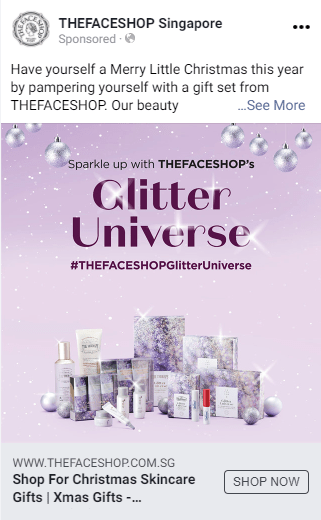 Social Media Ad For The Face Shop