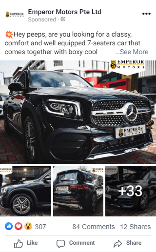 Social Media Ad For Emperor Motors