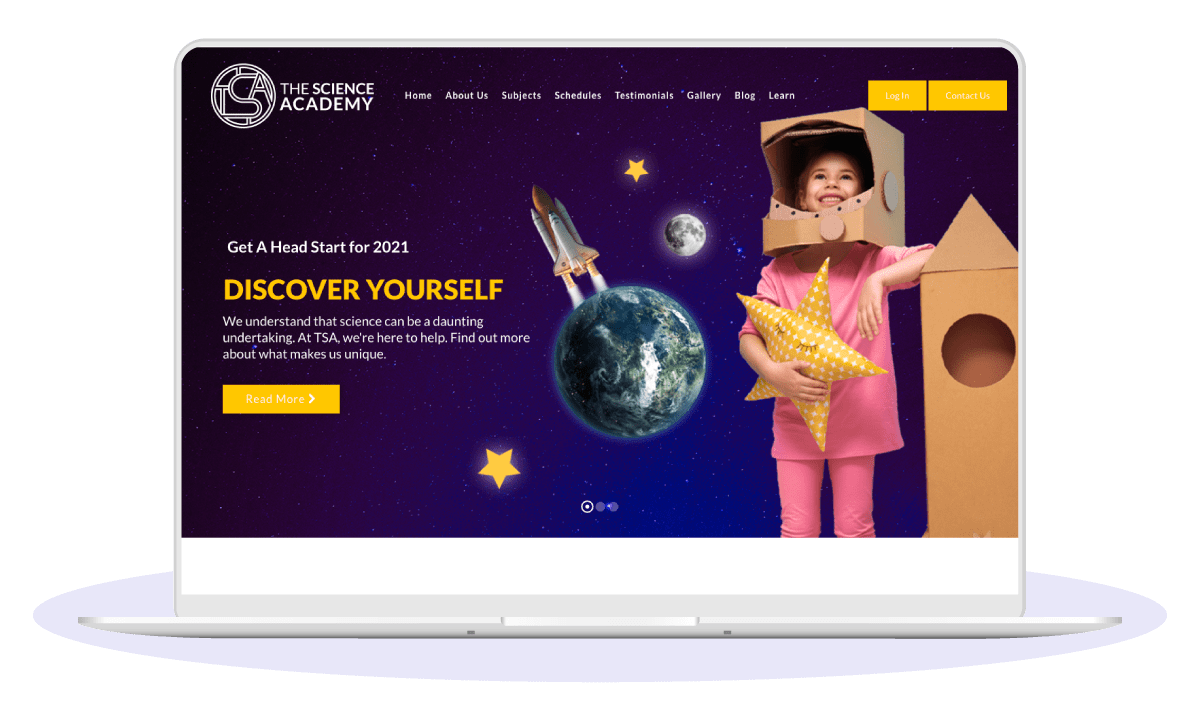The Science Academy Web Design