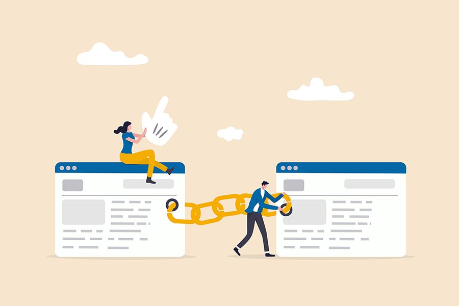 Quality backlink between 2 websites