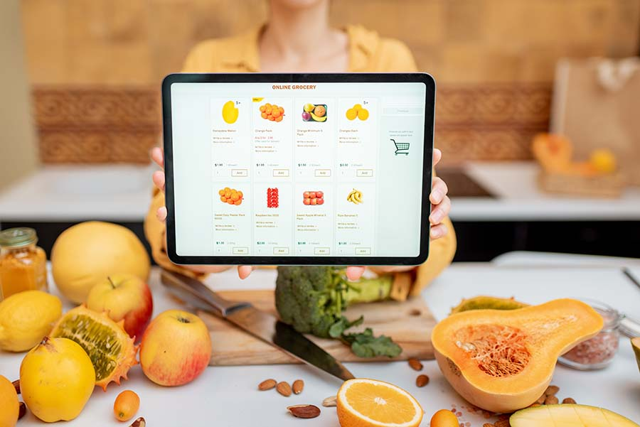 fruit ecommerce store with excellent product images on display